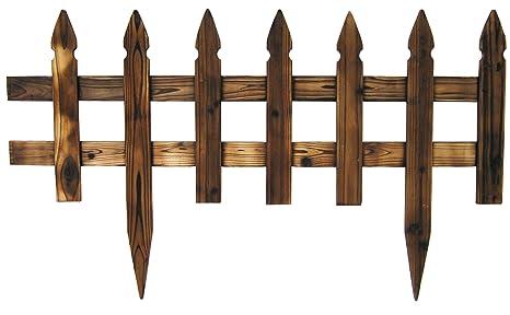 Steccato divisorio aiuola per recinzione giardino in legno: amazon
