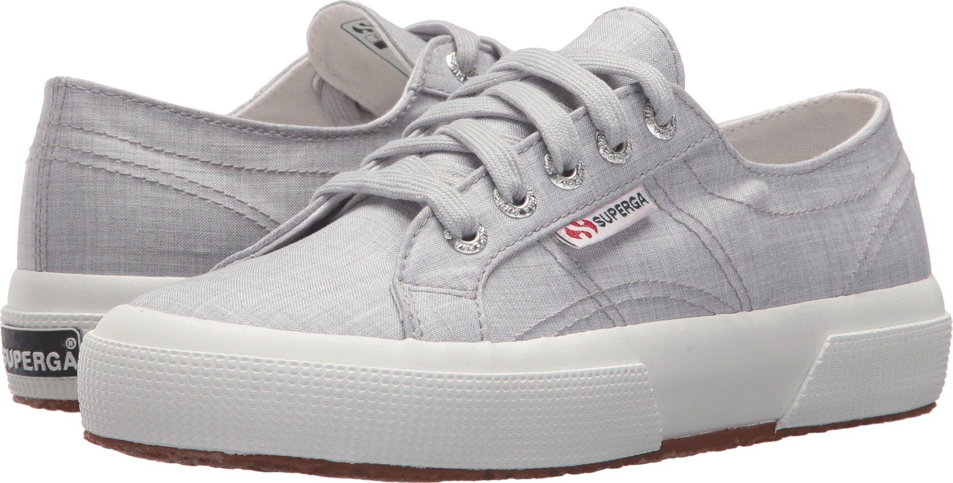 Superga Women's 2750 Fabricshirtu Sneaker, Light Grey, 39 M EU (8 US)