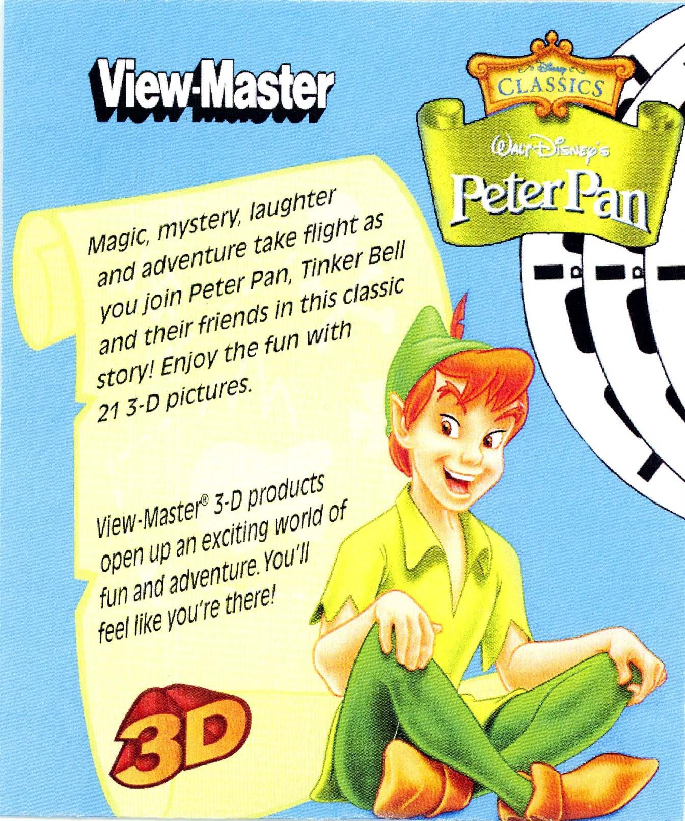 Peter Pan View-Master 3-D - 3 Reels by Fisher-Price