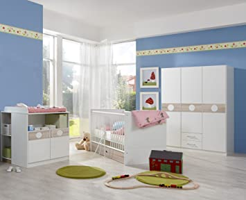 Babyzimmer Komplett Set Kimba 3tlg Bett Wickelkommode Gr Schrank