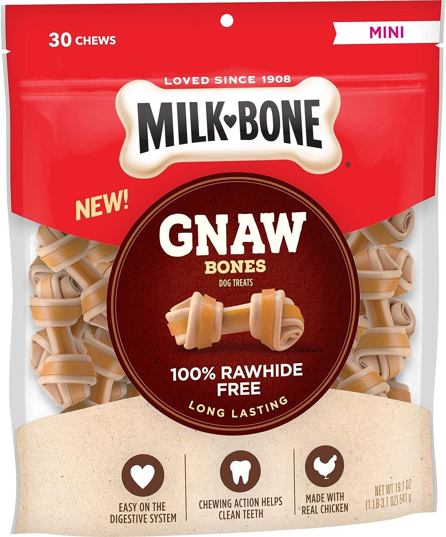 Milk-Bone Gnawbones Dog Treats, Long Lasting and Rawhide Free