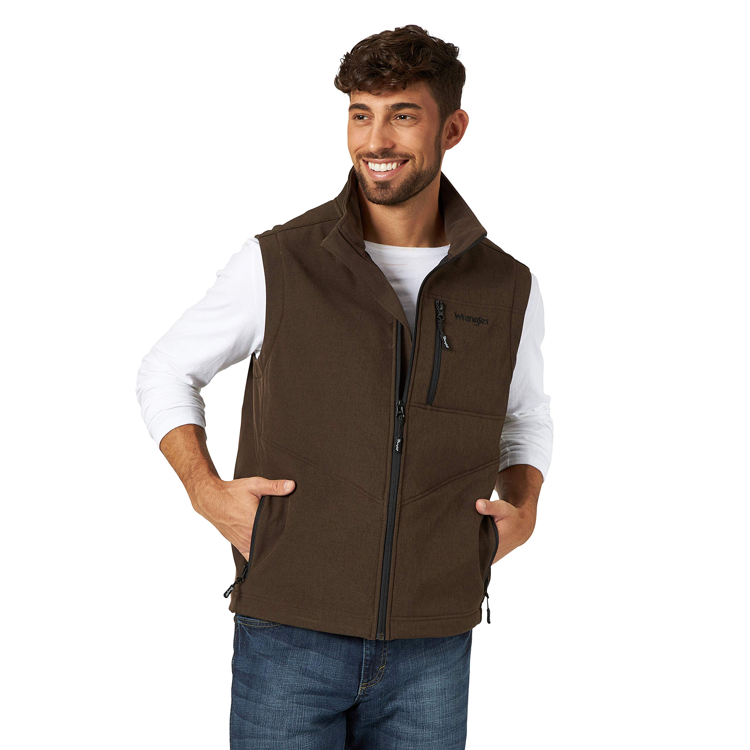 Wrangler Men's Concealed Carry Stretch Trail Vest, Brown Heather, 3XT by Wrangler
