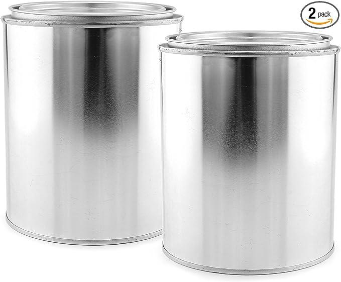 0,2 L proyectos de bricolaje latas de pintura de metal para fiestas para manualidades organizaci/ón de garaje HEALLILY 6 latas de pintura vac/ías con tapa pintura