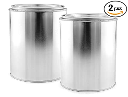empty quart paint cans with lids 2 pack unlined metal paint cans