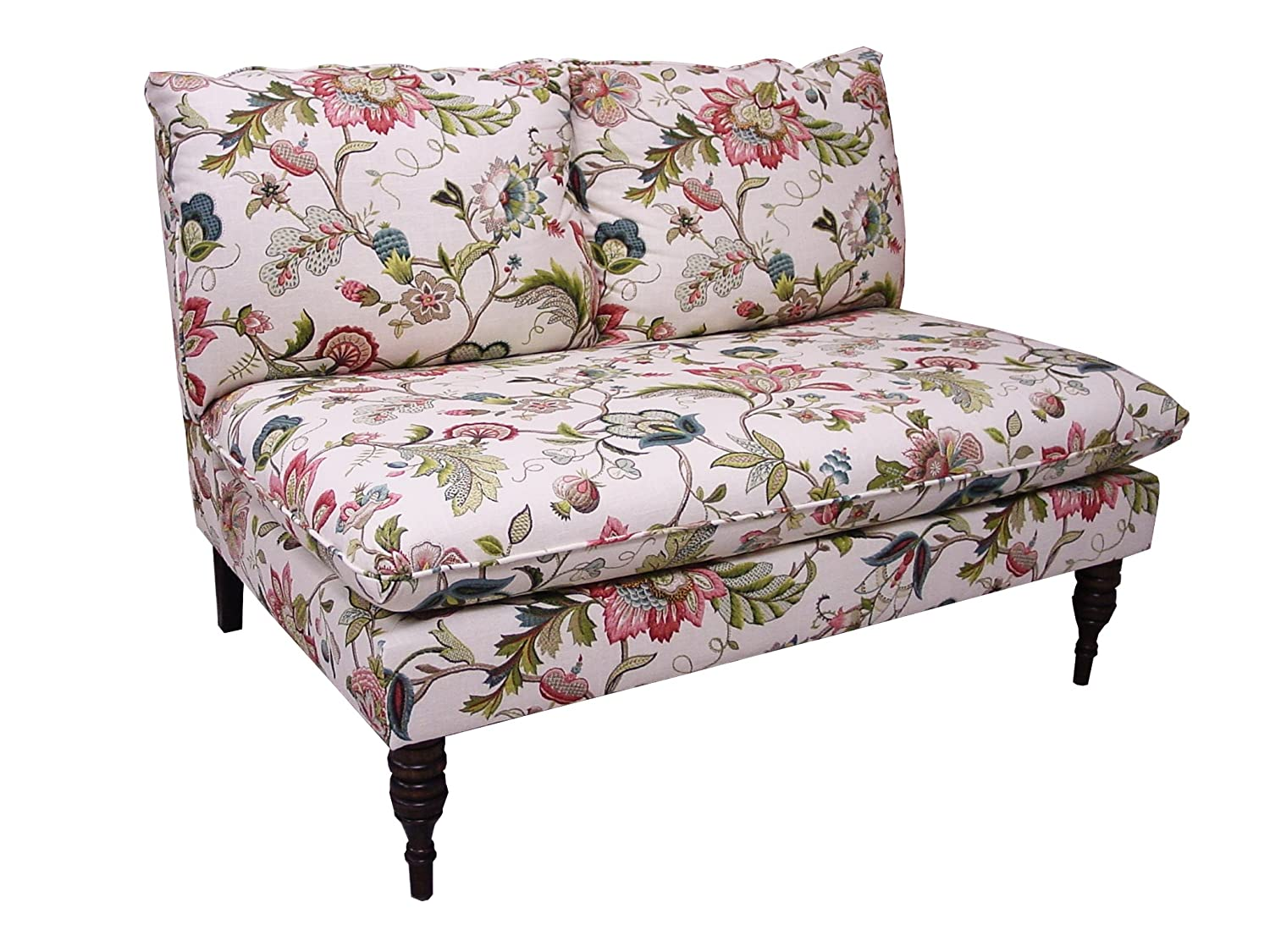 Superior Amazon.com: Skyline Furniture Armless Settee In Brissac Jewel: Kitchen U0026  Dining