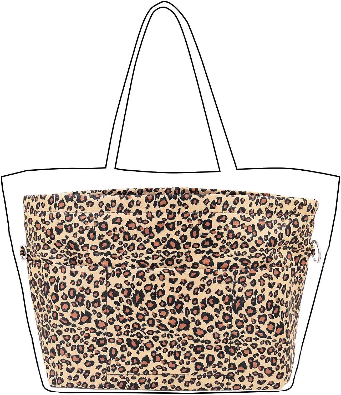 Lrker Women's Purse Organizer Handbag Tote Insert Liner Divider Inside Bag, Medium