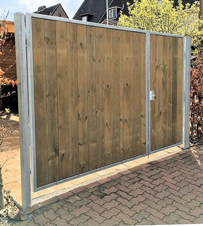 Puerta de entrada, anchura de montaje de 350 cm, altura de montaje ...