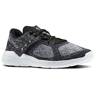 Reebok Damen Cardio Edge Low Top, Black (Schwarz/Weiß/Opal/Grau