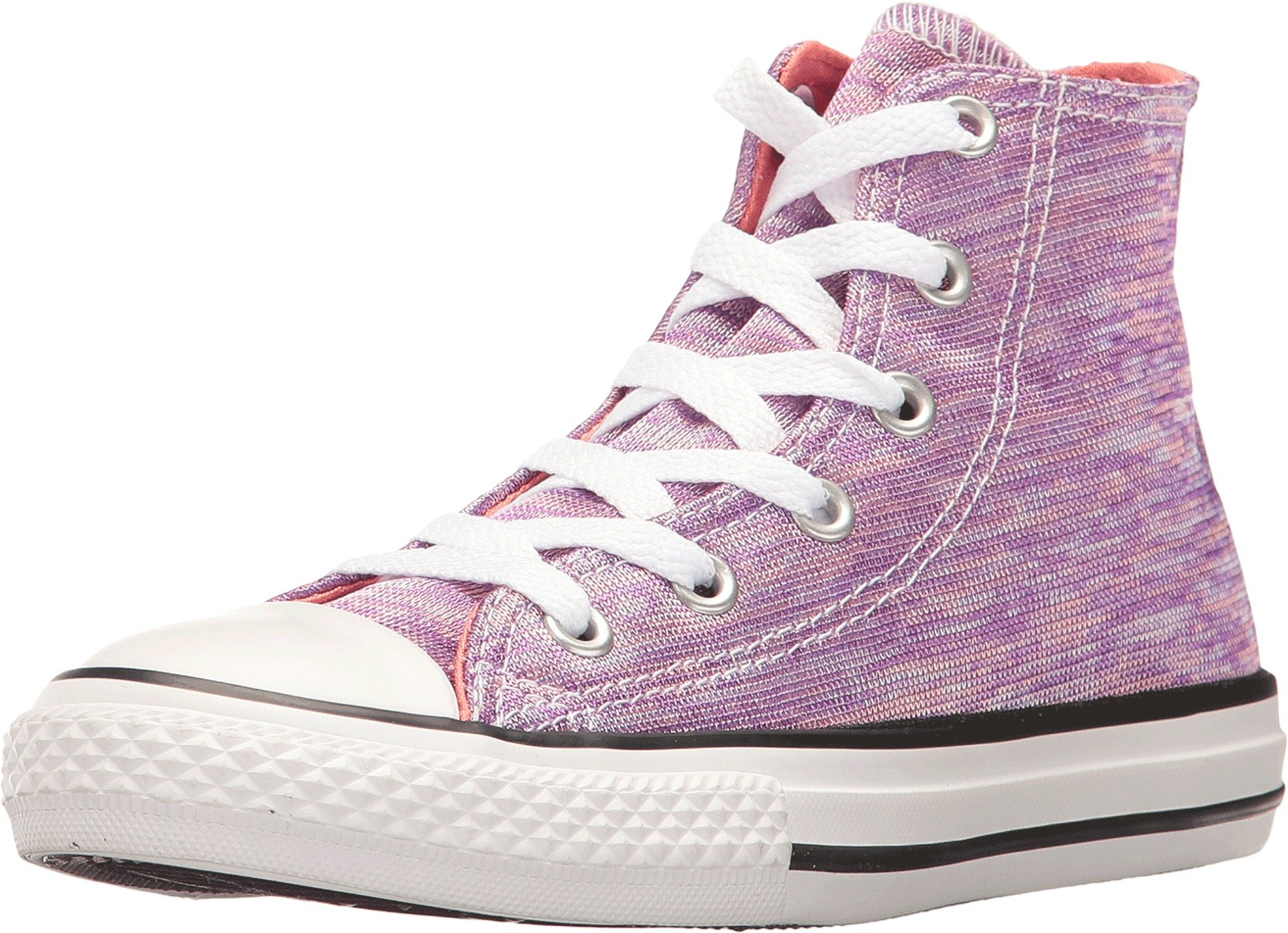 9056be515d8 Galleon - Converse Chuck Taylor All Star High Girls Fashion-Sneakers  358641F 13 - Bright Violet Sunblush White