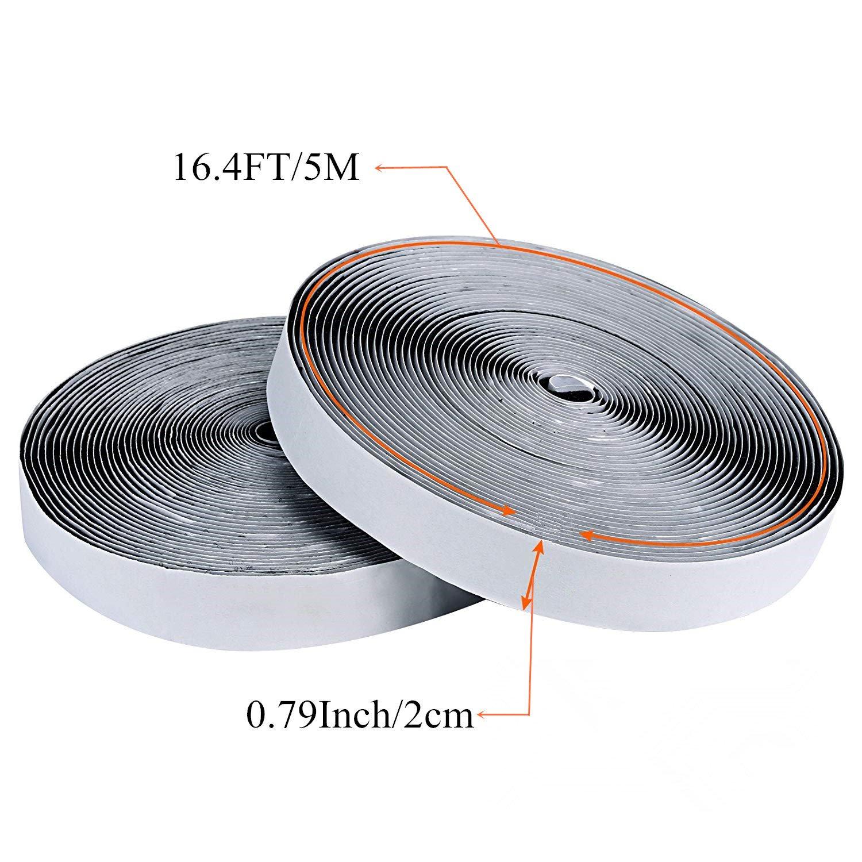 Z-Liant - 4 rollos de cinta adhesiva con gancho y lazo, 2,22 m de ...
