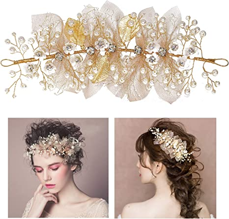 Flower Wedding Garland Headdress Bridal Hair Accessories Headwear Tiara