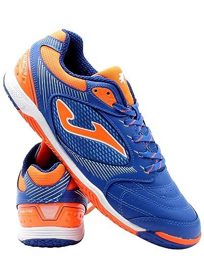 Joma Dribling, Zapatilla de fútbol Sala, Blue-Orange: Amazon.es ...