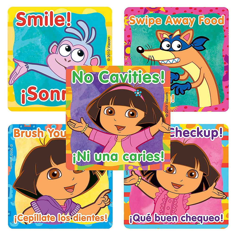 100 Per Pack SmileMakers Inc SmileMakers Dora the Explorer Dental Stickers