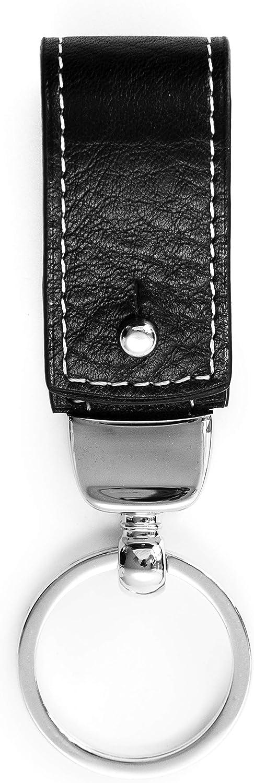 Chiccheria Porte-cl/és de luxe en cuir v/éritable Noir