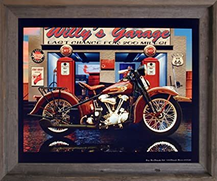 Amazon.com: Harley Davidson Willy's Garage Vintage Motorcycle Wall