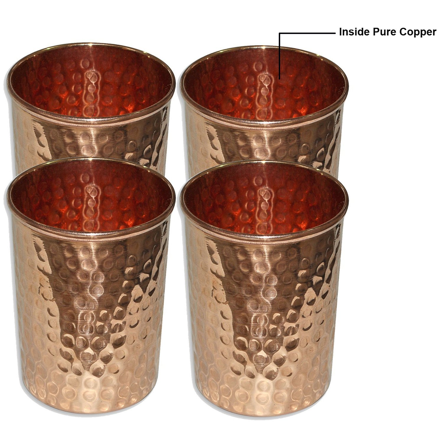 Coqueta Hammered Copper Cups, Set of Four by NapaStyle