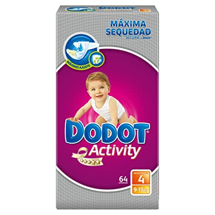 Dodot Activity - Pañales talla 4 (9-15 kg), 3 Paquetes x
