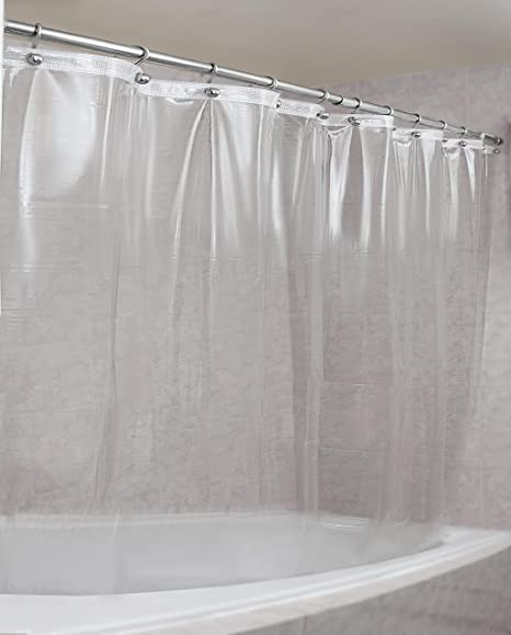 Amazon Com Epica Mildew Resistant Shower Curtain Liner On The Market 100 Anti Bacterial 10 Gauge Heavy Duty Liner Waterproof 72x72 Inches Clear Home Kitchen
