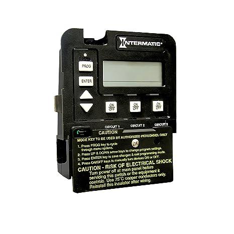 Intermatic P1353ME 3-Circuit Pool/Spa Digital Time Switch, Black on