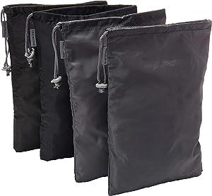 Travelon 2 Pairs of 2 Shoe Covers, black/Gray, 8.25 X 12.75