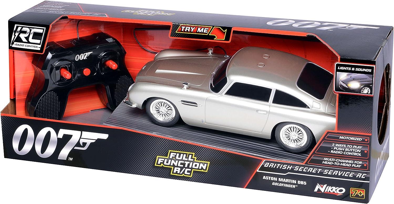 Nikko 011543620518 Toy State 62051 James Bond British Secret Service R C Aston Martin Db5 Mit Licht Sound Und Fahrfunktion Amazon De Spielzeug