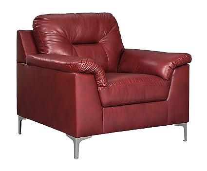 Merveilleux Ashley Furniture Signature Design   Tensas Contemporary Faux Leather  Armchair   Crimson