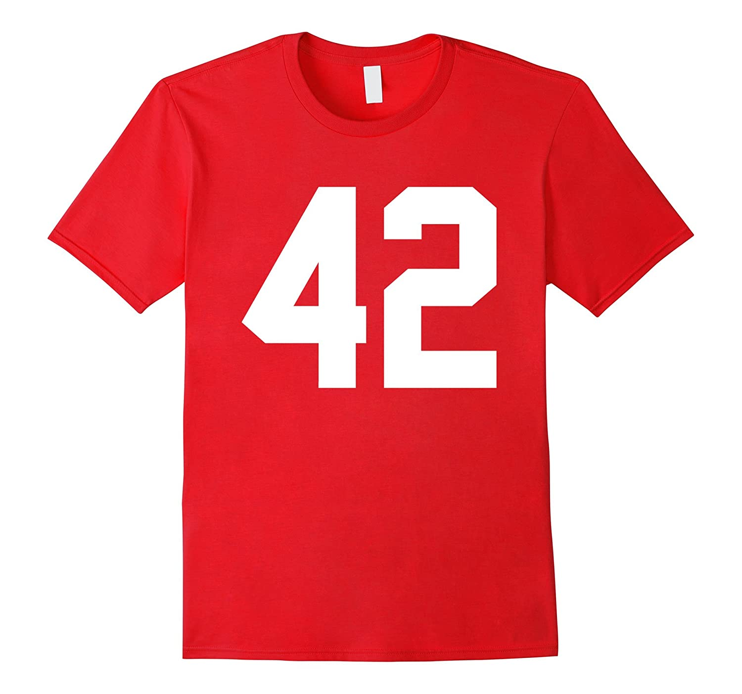 #42 Team Sports Jersey Number Front & Back Player / Fan Tee-TH