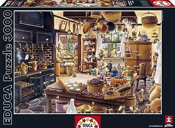 Puzzles Educa - Puzzle La Panadería, 3000 Piezas (16319): Amazon.es: Juguetes y juegos