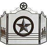 Koehler 12569 35 inch Brown Lone Star Fireplace Screen