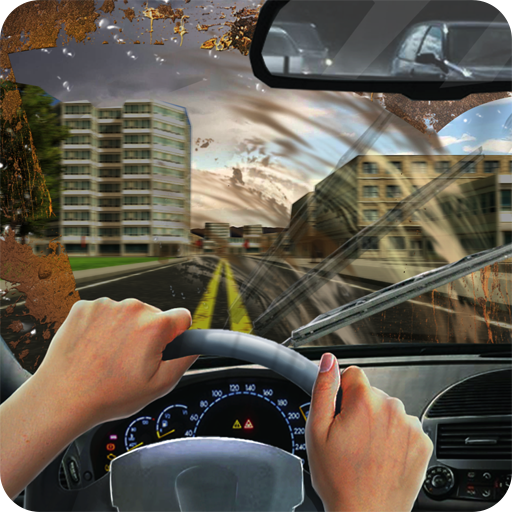 (Clear Windshield At Speed 3d City Simulator)