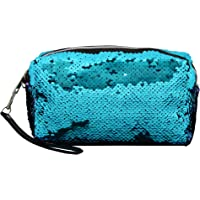 Tashan By Gujrals Women's Cotton Colour Changing with Sequence Pouch (Turquoise)