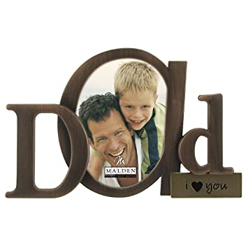 malden international designs bronze script dad picture frame 35x45 bronze
