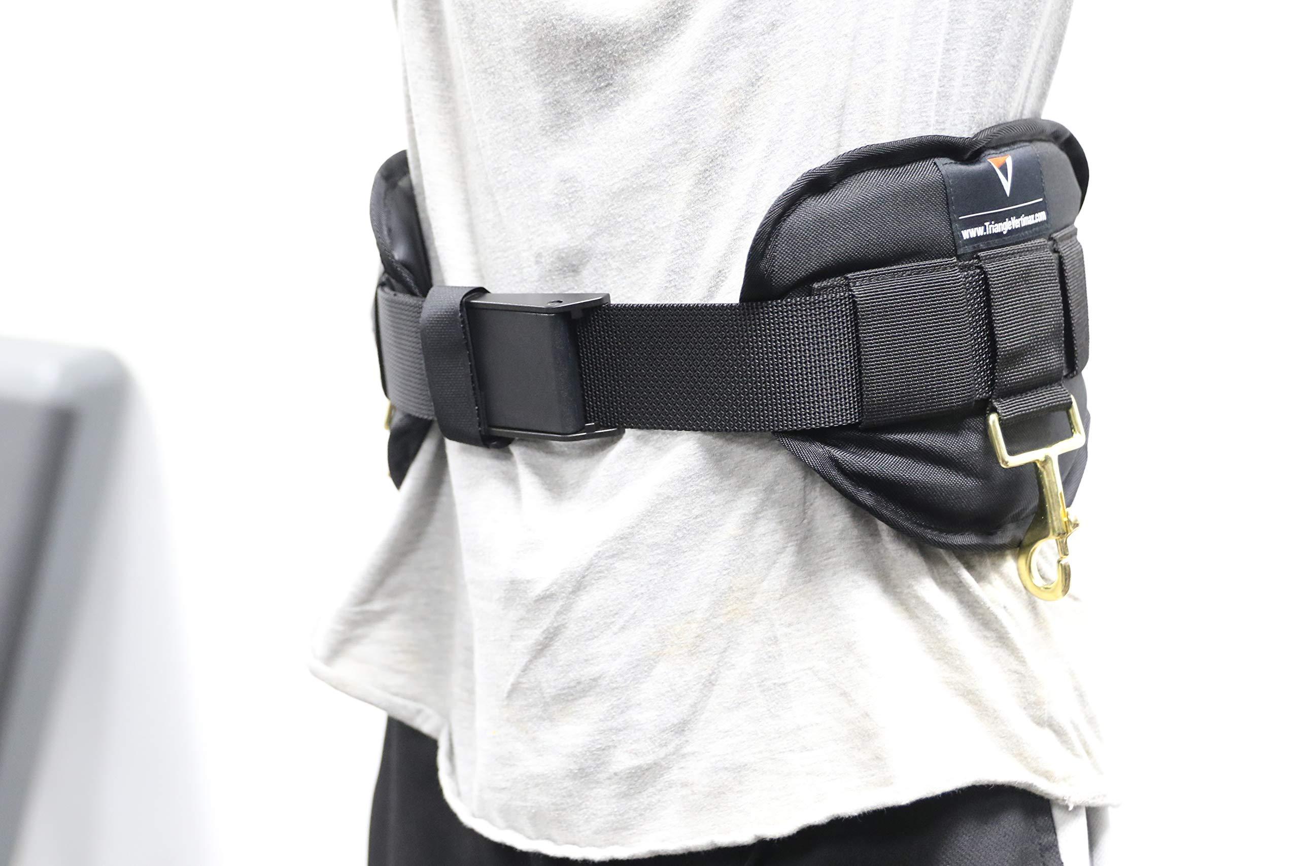 Triangle Sports Performance & Wellness Large Premium Deluxe Waist Harness for Just Jump Belt, Run Rocket Belt, VertiMax Belt & FieldPower Belt Training Systems - 34'' to 52'' Waist
