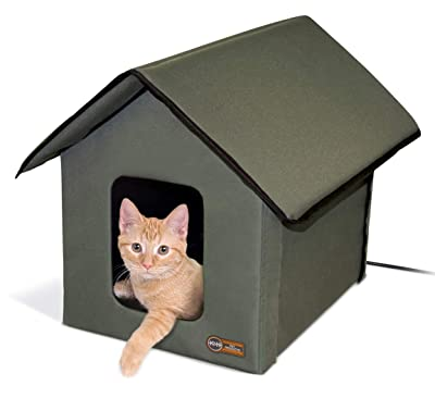 K&H Pet Products Outdoor Heated Kitty House Cat Shelter Inches