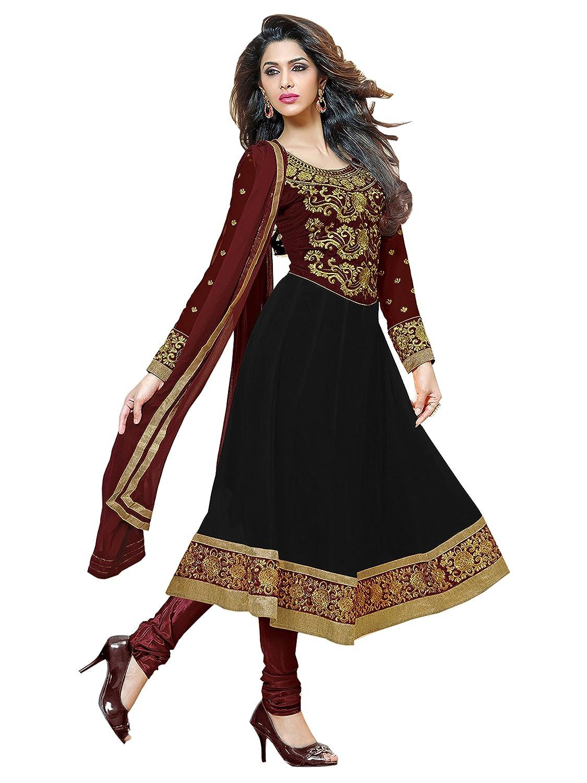 Bollywood Salwar Kameez Frau Nicht abgesteppt kleid partywear Nicht Gewunden Nur Material Mirchi Fashion