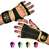 GLADIATOR GYM GEAR Neoprene CROSS TRAINING GLOVES with built in Velcro WRIST WRAP & full LEATHER PALM protection NON SLIP grip. G3 Workout Gloves for WOD WEIGHTLIFTING PULLUPS KETTLEBELLS & DUMBBELLS