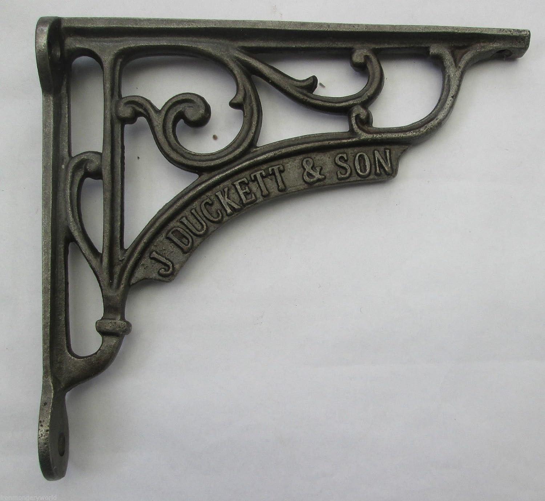 x brackets iron cast shelf bracket small media