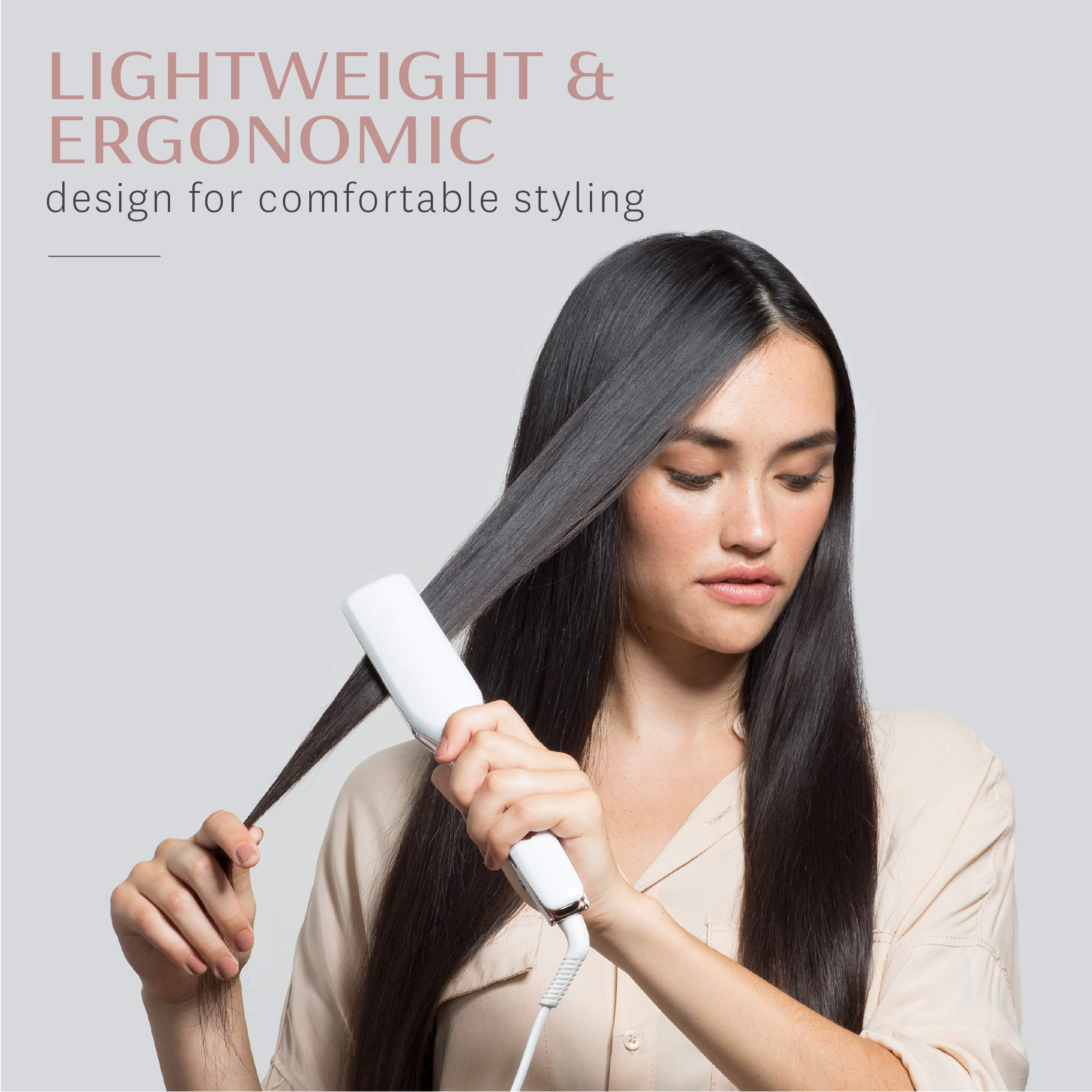 """T3 - Singlepass X 1.5"""" Styling Iron (White & Rose Gold) 
