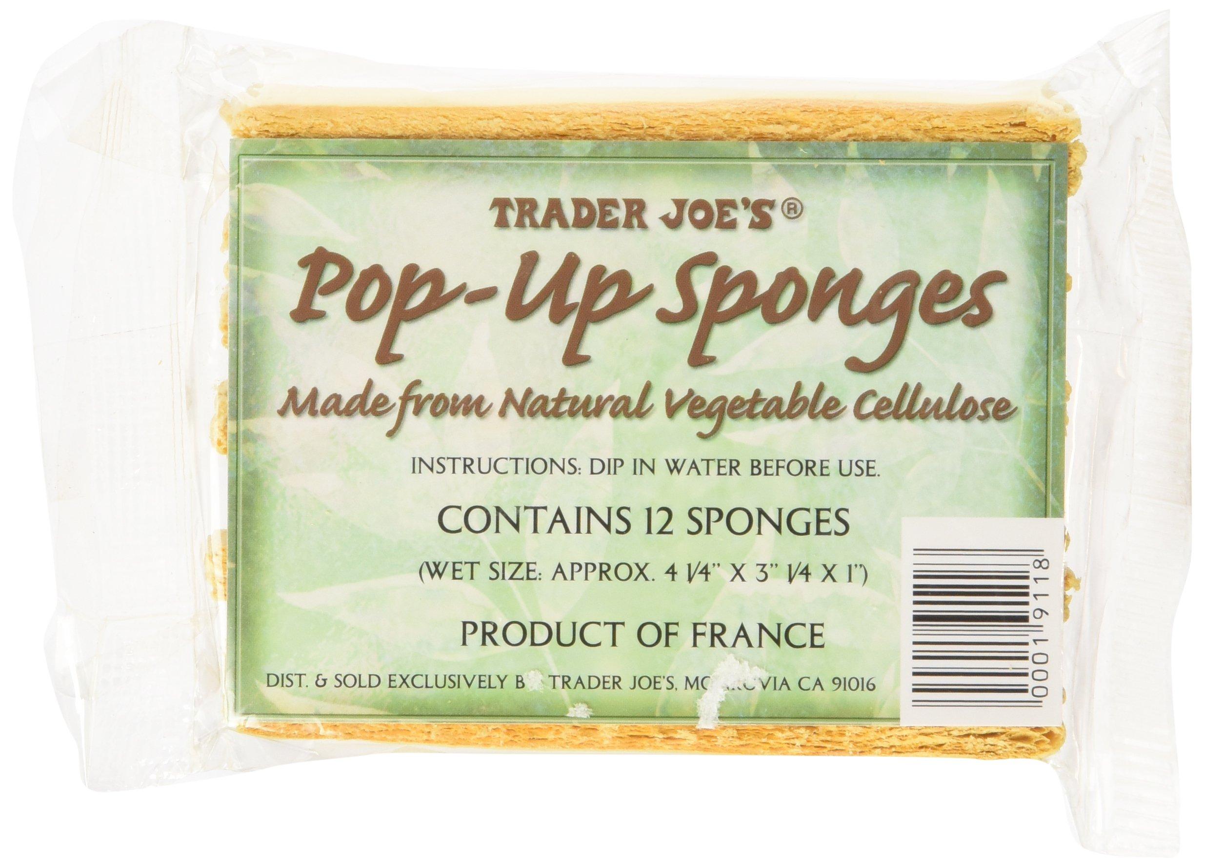 Trader Joe's Pop up Sponges Made From Natural Vegetable Cellulose