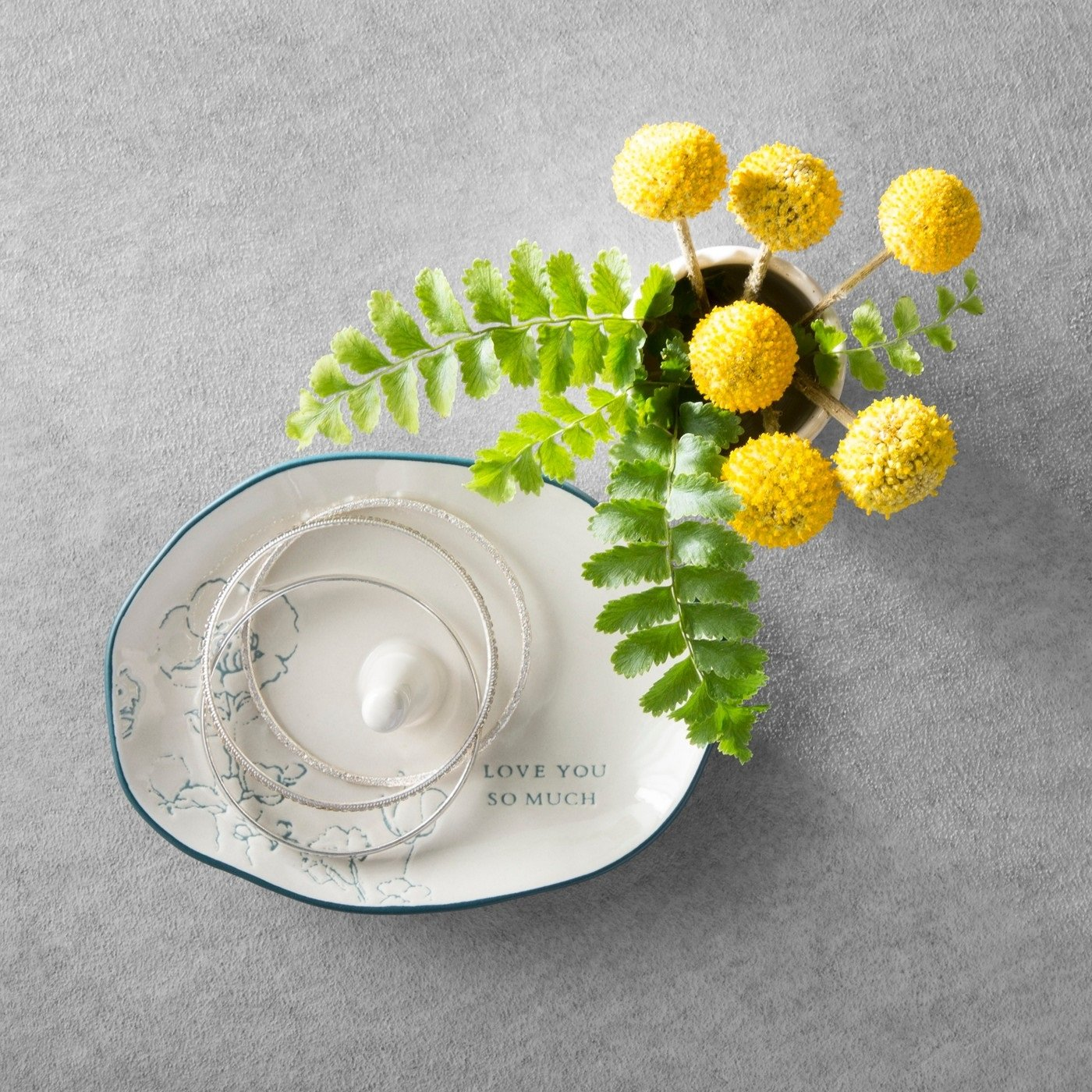 Hearth and Hand Magnolia Ring Tray Stoneware Cream Love Mother Day Collection by Hearth & Hand Magnolia (Image #2)