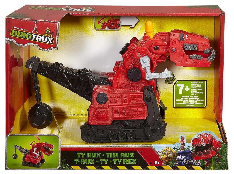 Mattel DPD39 - Dinotrux Hero Sounds T-Rux Fahrzeug