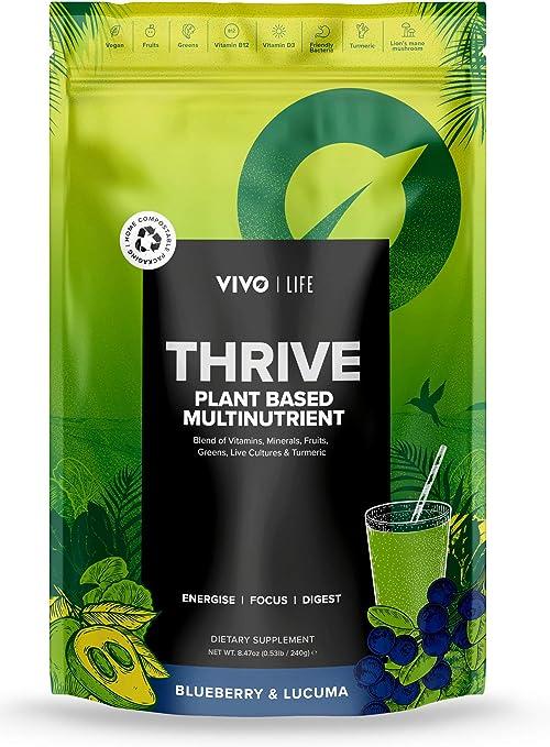 Vivo Thrive Living - Polvo con Multinutrientes, Arándano y Lúcuma - 112g, 14 días