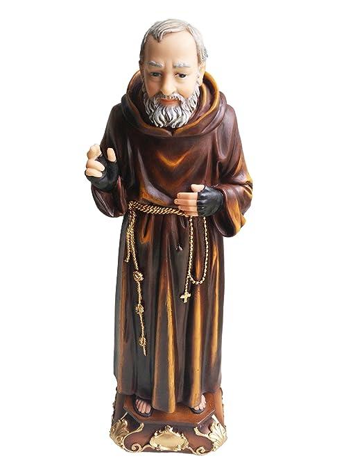 Amazon.com: San Pio de Pietrelcina Escultura Padre Pio ...