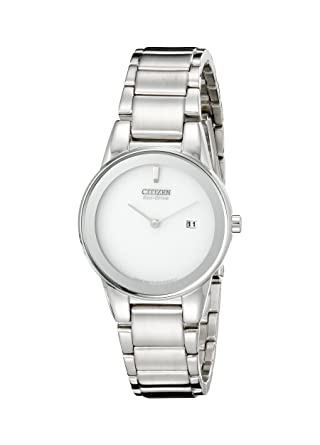 d242b32cb2ab2e Image Unavailable. Image not available for. Color: Citizen Women's  GA1050-51A Eco-Drive Axiom Stainless Steel Watch