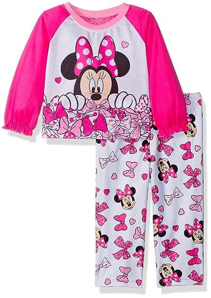 87999bc9e85f Amazon.com  Disney Baby Girls Minnie Mouse 2-Piece Pajama Set  Clothing