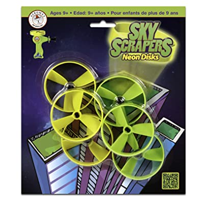 Sky Scrapers Flying Disks Refill Pack: Toys & Games