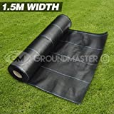 GroundMaster 1.5m x 15m Heavy Duty Weed Control Fabric Ground Cover Membrane