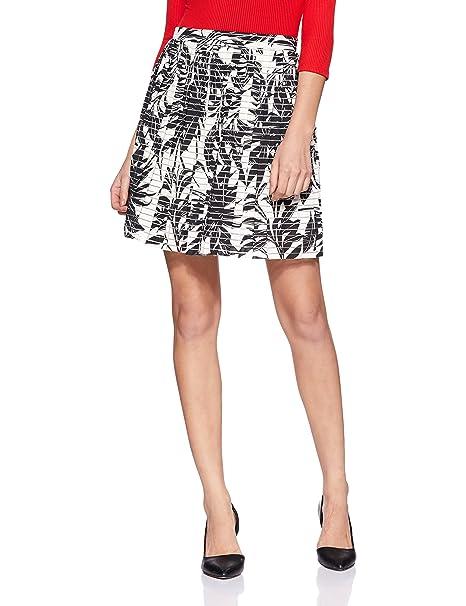 b01c73911d Vero Moda Women's Nia Mia High Waist Printed Short Skirt, Black/White, Small