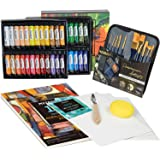 MEEDEN 64 Pcs Acrylic Painting Kit with 48x22ML Acrylic Paints, Acrylic Paintbrushes, Canvas Panel, Acrylic Painting Pad…