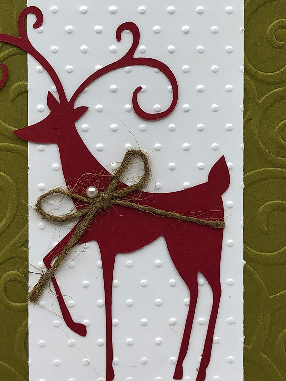 Reindeer Christmas Card Set of 4